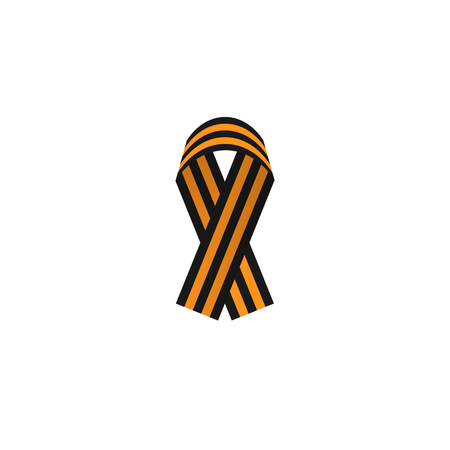 george: St. George ribbon color web icon, thin line illustration for mobile app color picture on a white isolated background