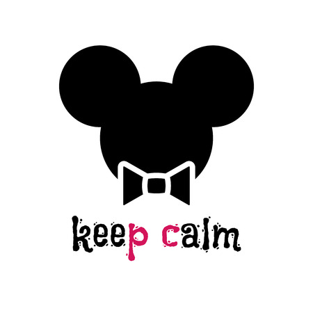 keep in: Head of a mouse hipster. mouse in bow tie on light background. Hand-drawn sketch of a phrase. Retro Fashion. Creative mouse with words Keep calm