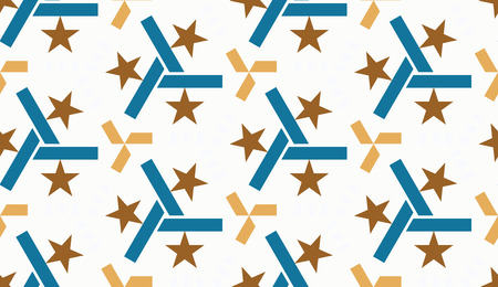 ceramics: beautiful mosaic flat abstract multicolored geometric ornament for Wallpaper, textiles, ceramics. Seamless retro star pattern on white background. Positive emotions.