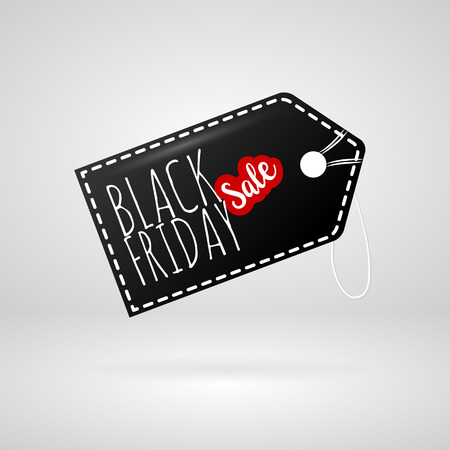 Black Friday sales label tag. Vector, grouped for easy editing. No open shapes or paths. Black friday design, sale, discount, advertising, marketing price tag. Clothes, furnishings, cars, food sale