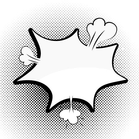 Speech black bubble Pop-Art Style. lichtenstein pop art. Pop art comic background space for coments. Explosion bubble collision - funny balloon comics book background template. Vector illustration