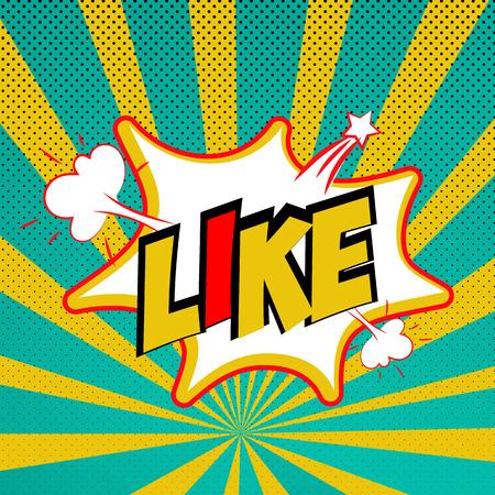 Effets sonores de bande dessinée pop style art vecteur. discours de bulle sonore avec le mot et l'expression de bande dessinée comique sons illustration. Lettrage Like. Comics modèle livre de fond. Banque d'images - 62395840