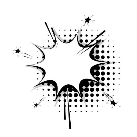 Blank template comic speech star bubble halftone dot background style pop art. Comic dialog empty cloud, space text style pop art. Creative composition idea conversation comic sketch explosion sudden