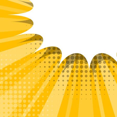 dialog balloon: Blank yellow comic balloon template. Comic speech bubbles halftone dot background style pop art. Comic text dialog empty cloud pop art. Creative idea conversation comic background sketch explosion Illustration