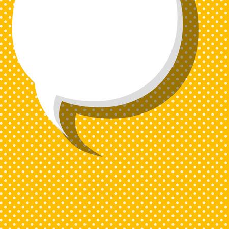 dialog balloon: Blank comic balloon template. Comic yellow speech bubbles halftone dot background style pop art. Comic text dialog empty cloud pop art. Creative idea conversation comic background sketch explosion