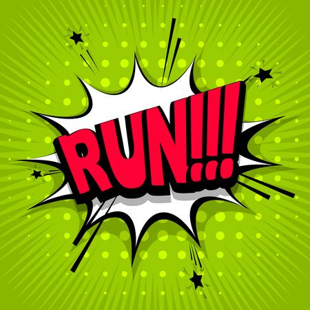 Lettrage courir, allez, devant. Effets sonores de texte comique. Phrase de discours d'icône de bulle de vecteur, expression de tag d'étiquette de police exclusive de bande dessinée, illustration de sons. Ballon de livre de bande dessinée Banque d'images - 68298125