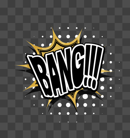 bang: Lettering Bang Gold sparkle comic text Illustration
