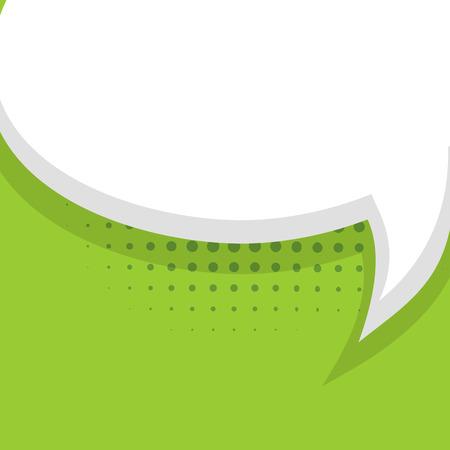 Blank light green balloon template