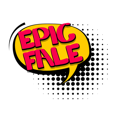 fale: Comic text speech bubble Stock Photo