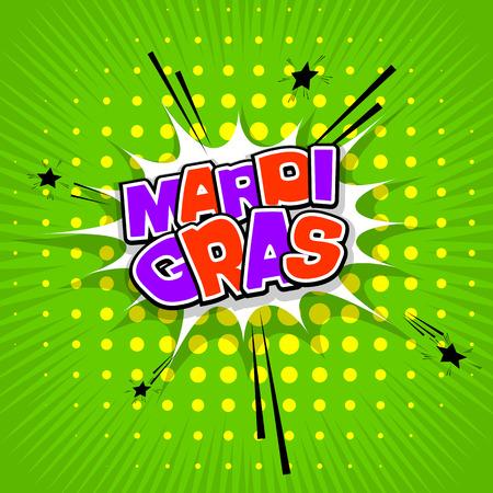 Lettering Mardi Gras green