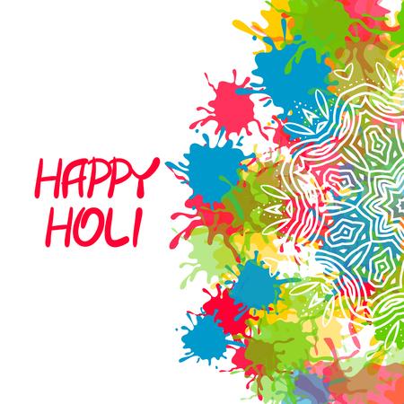 happy: Indian festival Happy Holi Stock Photo