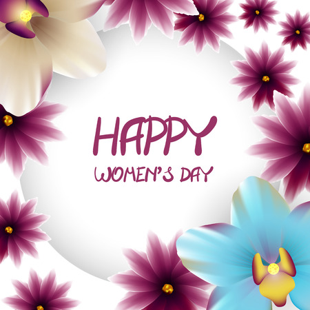 lillac: Happy womens day border lillac flower orchid