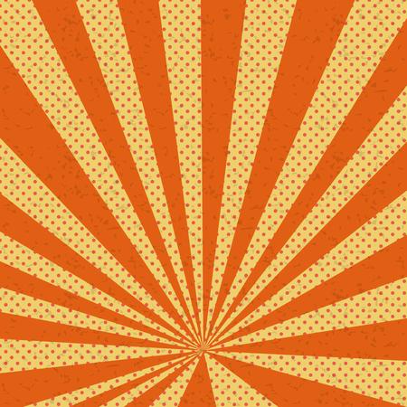Old paper comic book orange background Illustration