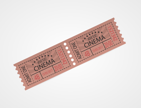 Retro cinema tickets red design