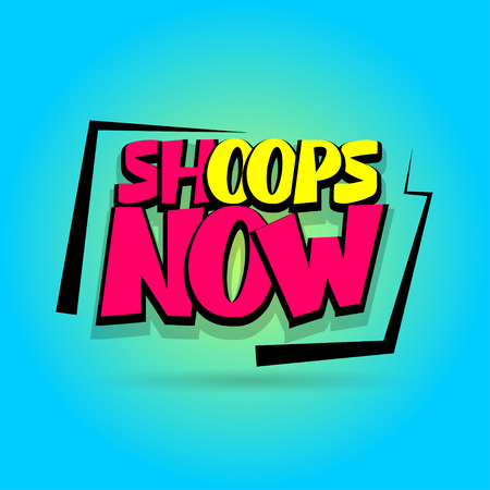 hassle: Shops now sale advertising web label badge. Vector illustration best price and discount. Special offer tag colored paper banner for print. Summer, Winter sticker rates. Comic text speech bubble. Illustration