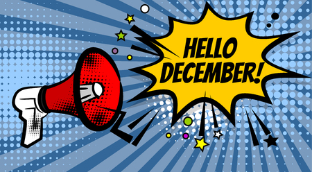 Megaphone pop hello december