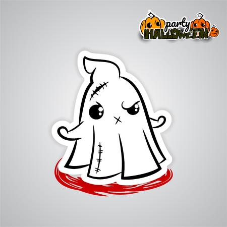 of helloween: Helloween evil ghost voodoo doll pop art comic