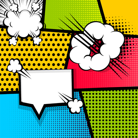cartoon bomb: Pop art strip comic text speech bubble bomb