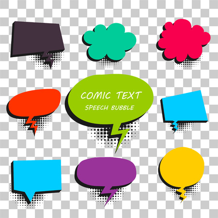 Comic colored text speech bubble 9