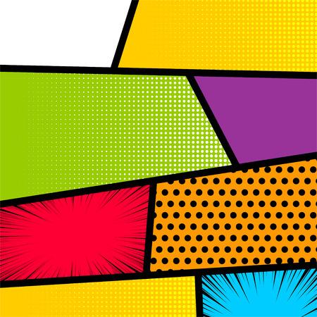 Pop-art stripboek achtergrond Stock Illustratie