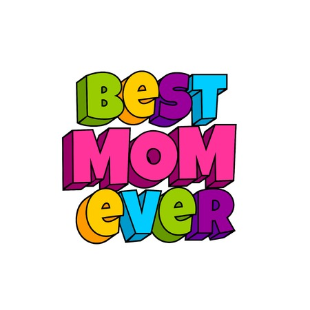 Greeting card for mom Pop art comic book vector