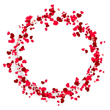 Valentine Day cute circular background design Stock Illustratie