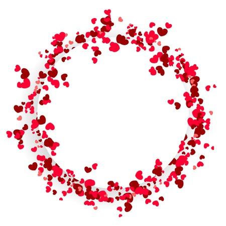 Valentine Day schattig cirkelontwerp als achtergrond Stock Illustratie