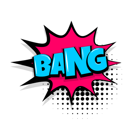 bang comic text white background 向量圖像