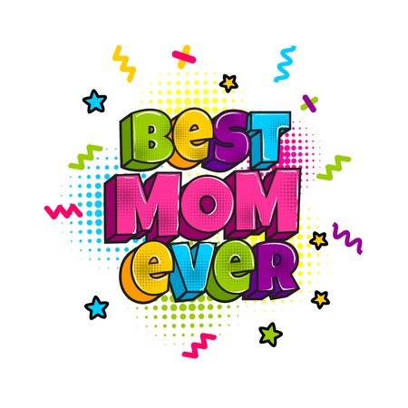 Greeting card for mommy mom mother Stock Photo