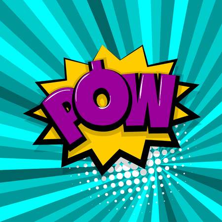 pow, comic text radial backdrop Illustration