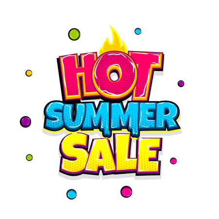 Comic text advertise glosssy summer sale