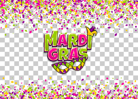 mardi gras colofred confetti background royalty free cliparts