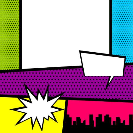 팝 아트 만화 책 색깔의 배경