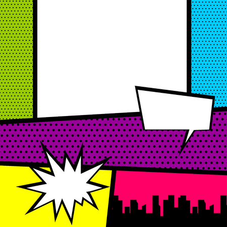 Pop art comic book colored backdrop 矢量图像