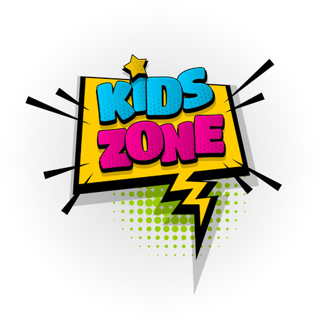 kids zone baby comic book text pop art Illusztráció