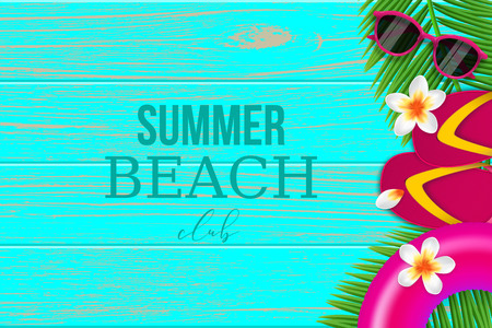 Summer tropical beach club background Vector illustration. Illustration