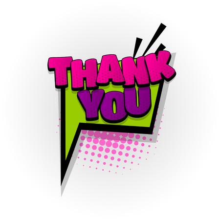 A thank you thanks comic book text pop art