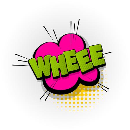 whee comic book text pop art
