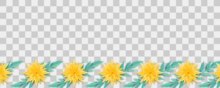 Paper origami flower vector Ilustração