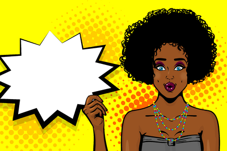 Black african-american young girl pop art