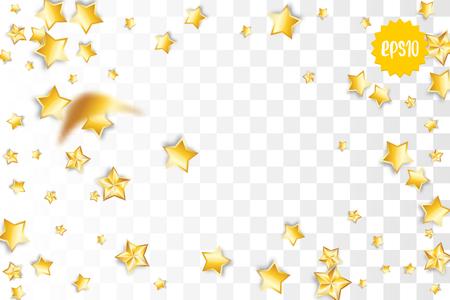 Falling golden stars Illustration