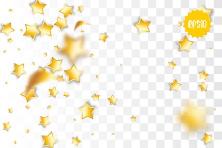 Falling golden stars 일러스트