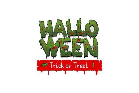 Happy Halloween party comic text font pop art