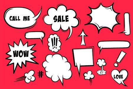 Comic book text speech bubble Stock Illustratie