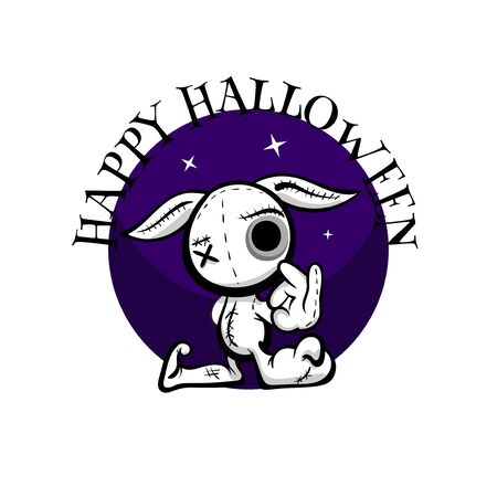 Cute evil rabbit halloween woodoo sewing toy