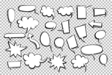 Speech bubble for comic text isolated background