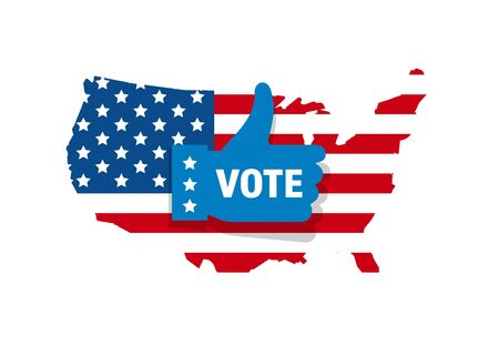 2020 Vote in USA american president banner