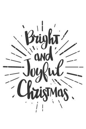 Navidad desea letras en estilo doodle jolly vector Ilustración de vector