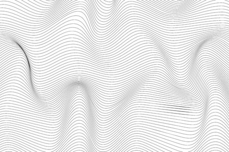 Trendy 3d cover background design with line curve black and white for wallpaper design. Black wavy stripes background. Graphic vector art. Creative line art. Abstract optical illusion design.
