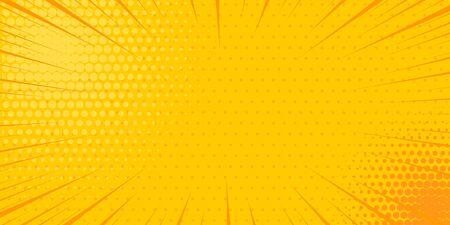 Pop art yellow comics book cartoon magazine cover Иллюстрация